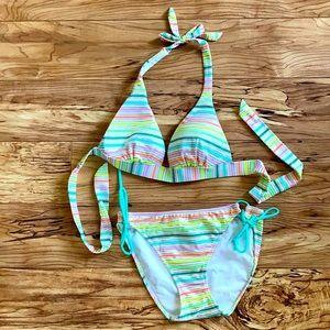 NWOT Victoria Secret bikini stripes top size S ⬇️M